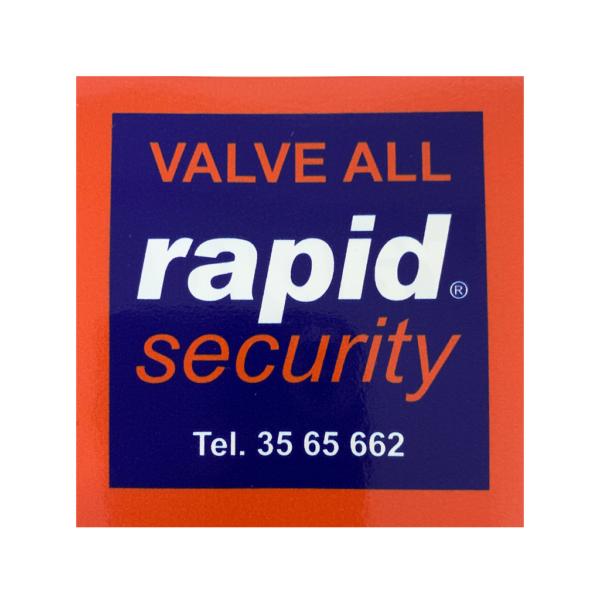 """Kleebis aknale (kahepoolne) """"Rapid Security valve all"""""""