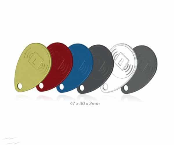 Four proximity TAGs (1 yellow, 1 red, 1 blue, 1 black) TAG4