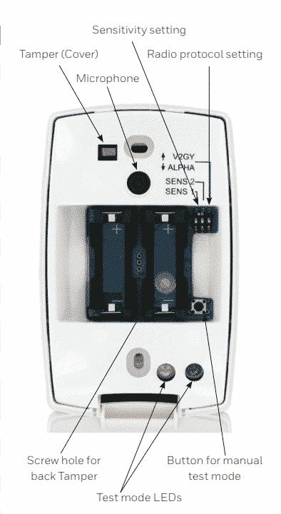 HONEYWELL Wireless Glassbreak detector Batteries included FG8M