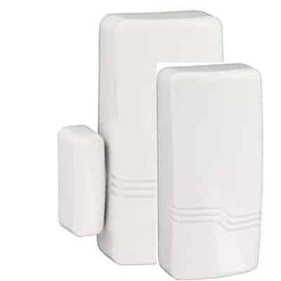 Wireless Piezo shock sensor (white) Batteries included SHK8M